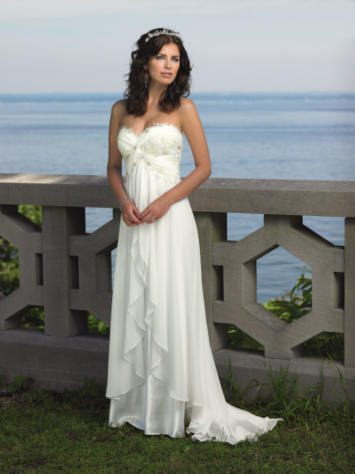 Enchanting by Mon Cheri 18107 in Ivory and White
