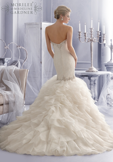 Mori Lee, 2685 in Ivory/Silver